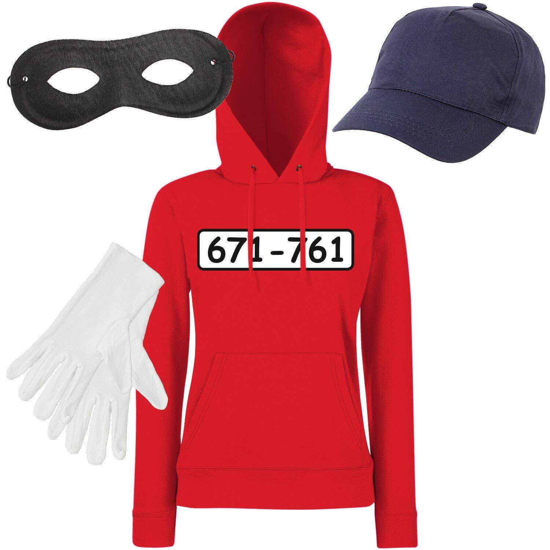 Shirt-Panda Damen Hoodie Panzerknacker Kostüm + Cap + Maske + + + Handschuhe Verkleidung Karneval SET05 Hoodie Cap Maske Handschuhe S B07MJ72FZS Film & Fernsehen Fanbekleidung Der neueste Stil 5631d5