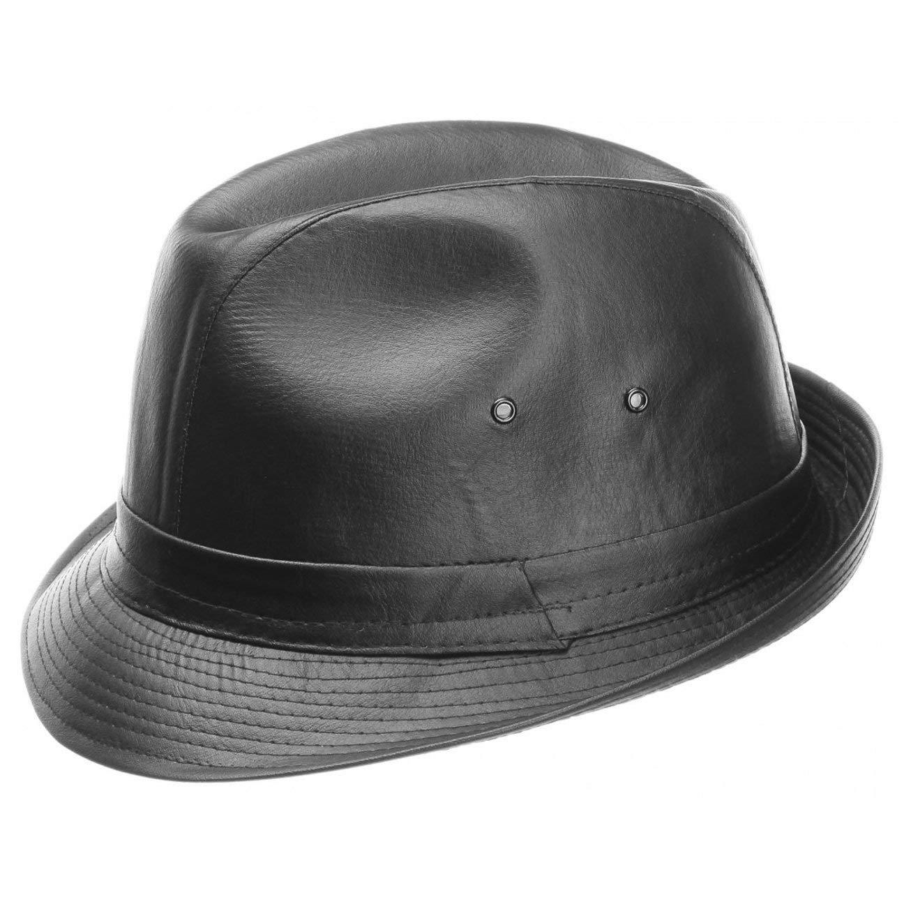 Cappello in Pelle Imitata trilby tendenza da uomo