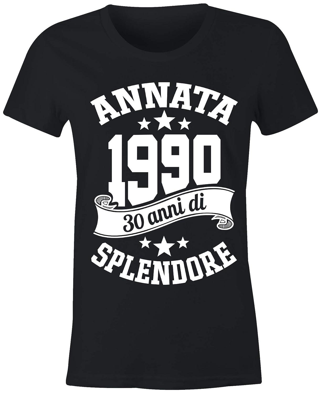 6TN Donna Maglietta in Lingua Italiana Prodotta nel 1990 30 Anni di Vita Fantastica