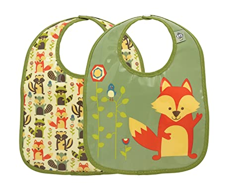 Sugarbooger What Did the Fox Eat?/® Mini Bib Gift Set-of-Two