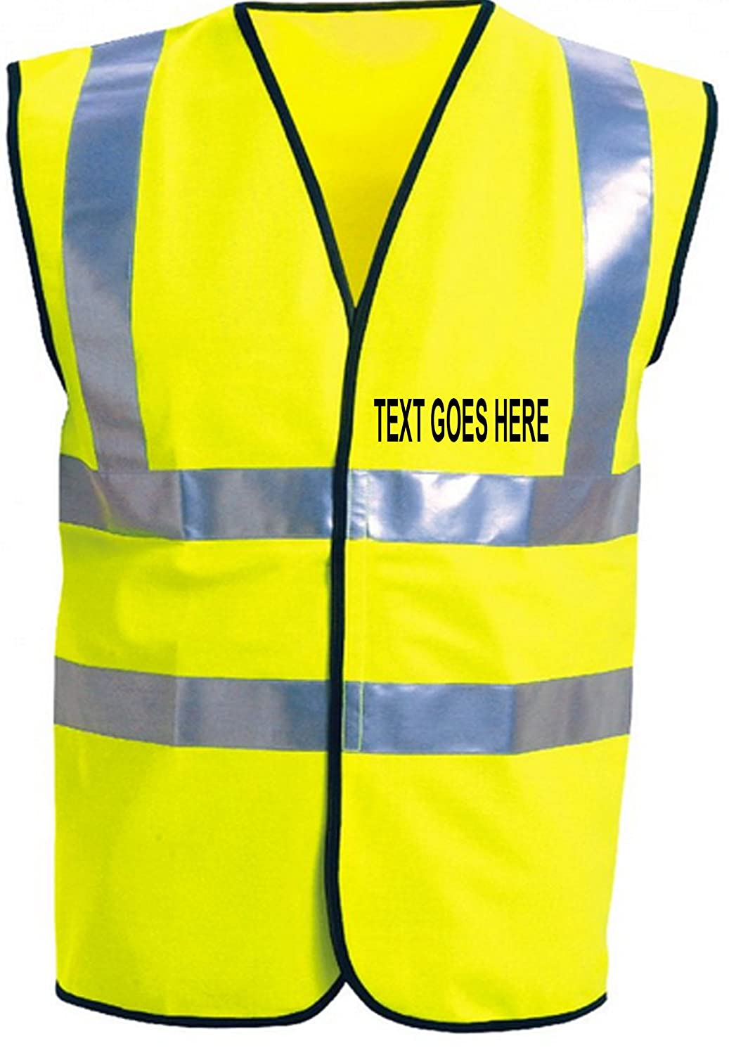PERSONALISED HIGH VISIBILITY ADULTS WAISTCOAT ADD YOUR OWN TEXT