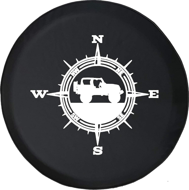BI HomeDecor Wheel Protector,Bussola Coperture Ruota di Scorta Personalizzate per Fuoristrada Nord Viaggi per Ruote di Veicoli Jeep,60-69cm