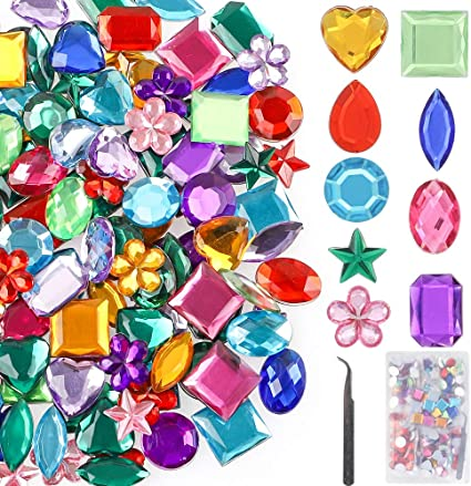 100gram Bag Of Assorted Acrylic Gems Craft Materials Vesey Gallery
