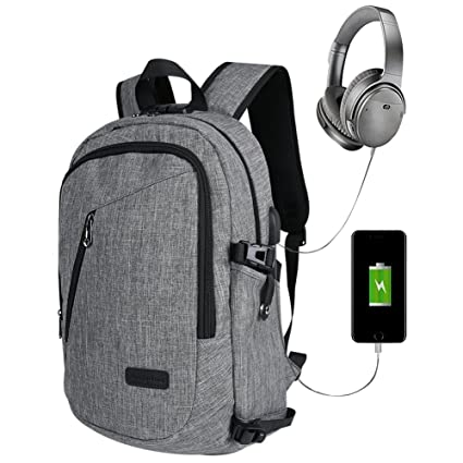 mochila portátil con cargador USB estudiantes mochila ...