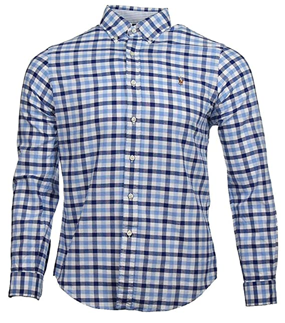 Ralph Lauren Slim Fit Camisa - Rojo/Blanco/Azul - Azul ...