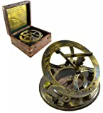 Brass Nautical Brass Compass with Gift Box