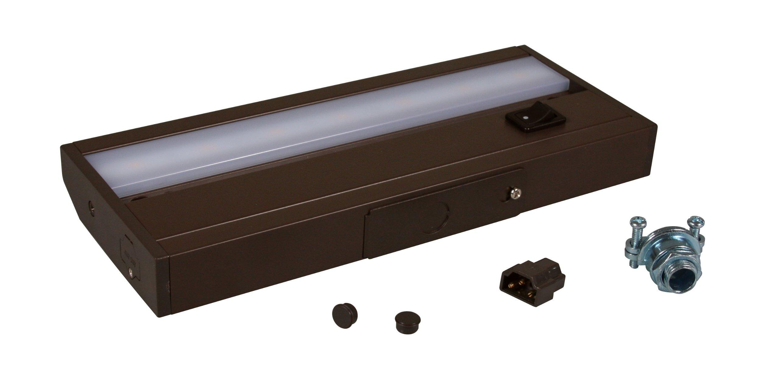 American Lighting ALC-8-DB LED Complete Under Cabinet Light, 3-Watt, 120-Volt Dimmable Warm White, 8-Inch, Dark Bronze