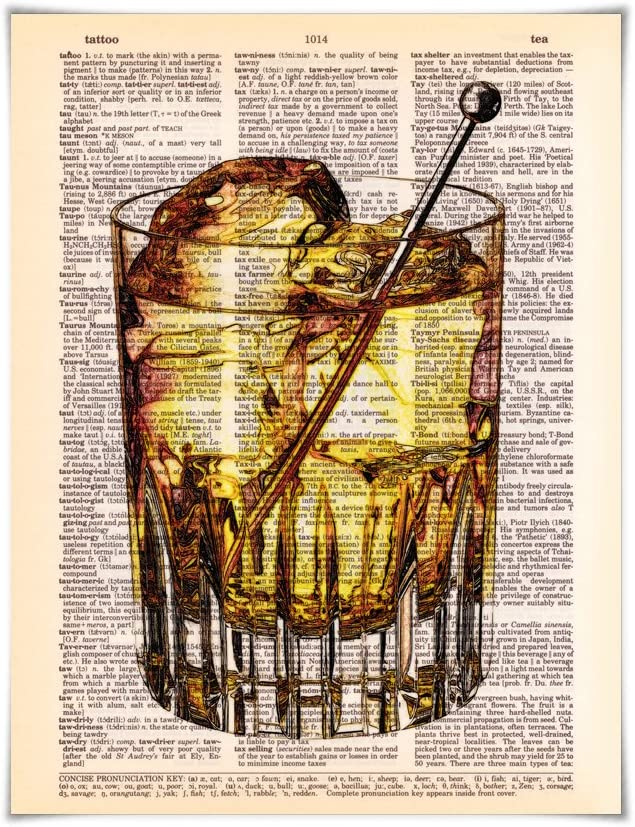 Vintage Dictionary Paper Print Pint of Beer Cocktails in the ...