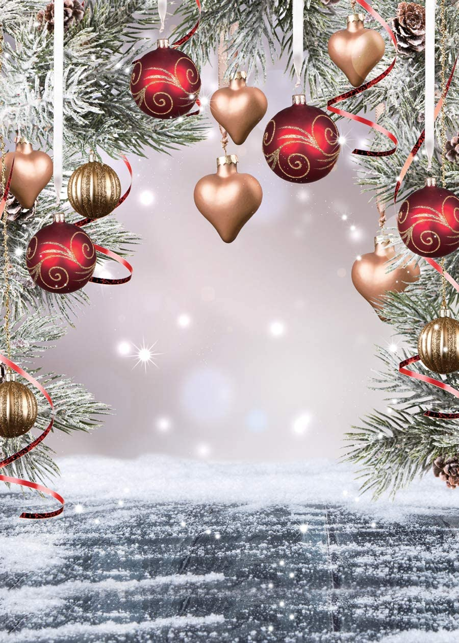 LTLYH 5X7FT Christmas Photo Backdrop Snow Children Christmas Party Decoration Backgrounds for Photography Studio A025