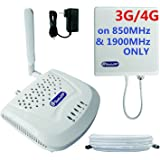 SolidRF SOHO Dual Bands Cell Phone Signal Booster for Home and Office Supports 3G/4G on 850MHz&1900MHz Only