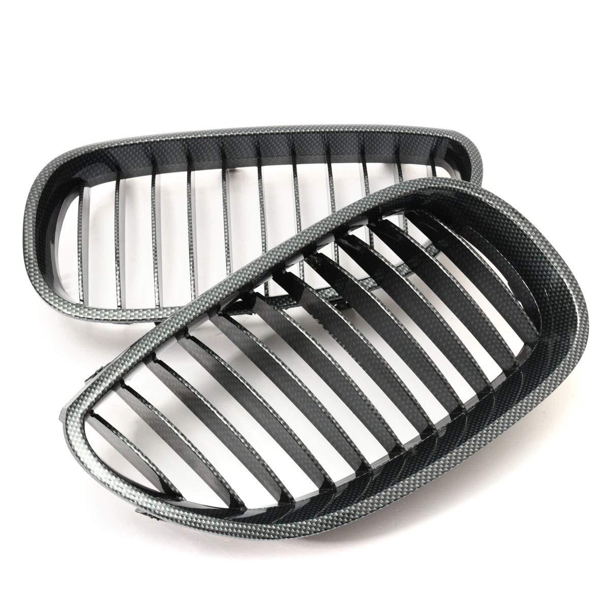 NICOLIE Une Paire De Fibre De Carbone Avant Centre Pare-Chocs Grille pour BMW E60 03-10 4 Porte Saloon