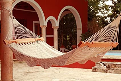 hacienda mayan hammock deluxe in virgin cotton rope  most luxurious hammock in the market amazon     hacienda mayan hammock deluxe in virgin cotton rope      rh   amazon