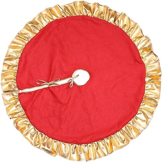 Da.Wa 1X 90cm Rojo Árbol de Navidad Falda Pie de árbol de Navidad ...