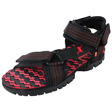 5e371cfda0f Sparx Men s Black and Red Athletic and Outdoor Sandals - 10 UK India(SS
