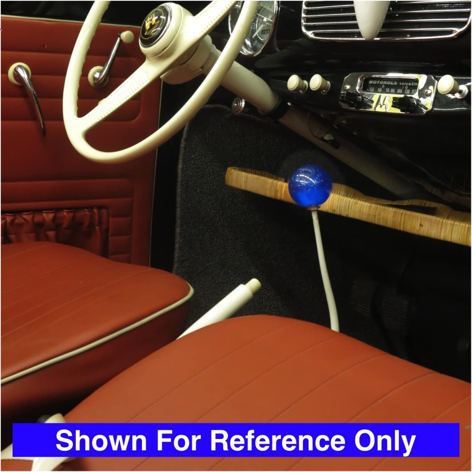 American Shifter 277087 Shift Knob Red Vintage Speed Blue Metal Flake with M16 x 1.5 Insert