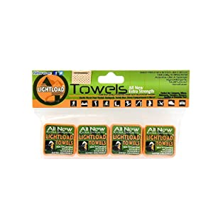 """Lightload Towels Compressed Non Microfiber X Strong Quick Dry Pack Travel Mini Towel for Bug Out Bag Backpacks Carry Ons 4 Pack 12x12"""" .2oz"""