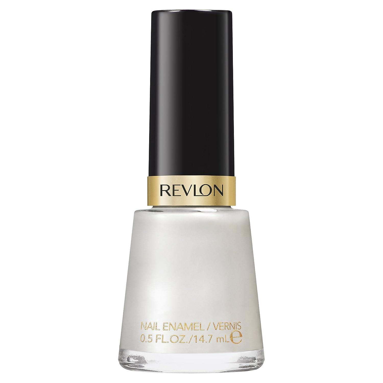 Revlon Nail Enamel, Chip Resistant Nail Polish, Glossy Shine Finish, in Nude/Brown, 020 Pure Pearl, 0.5 oz