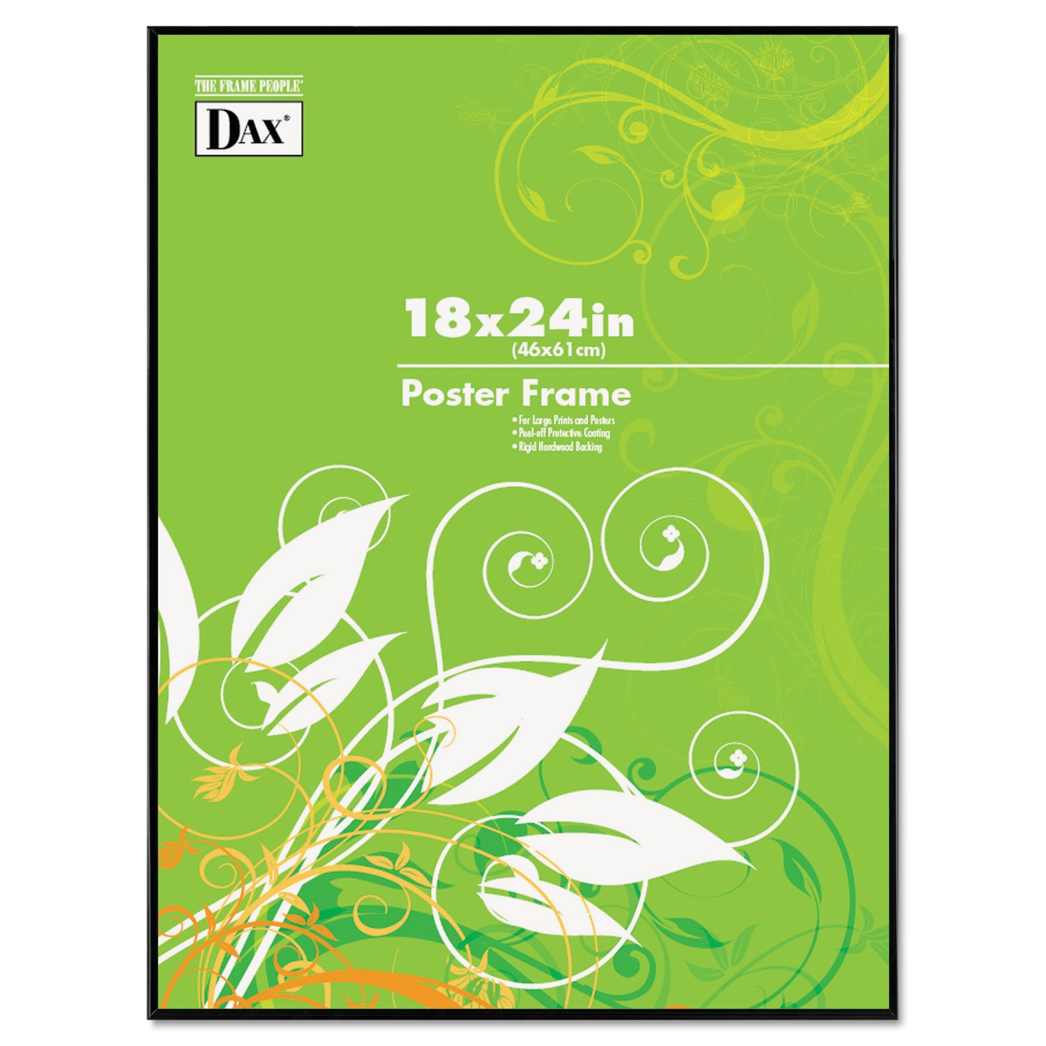DAX N16018BT Coloredge Poster Frame, Clear Plastic Window, 18 x 24, Black