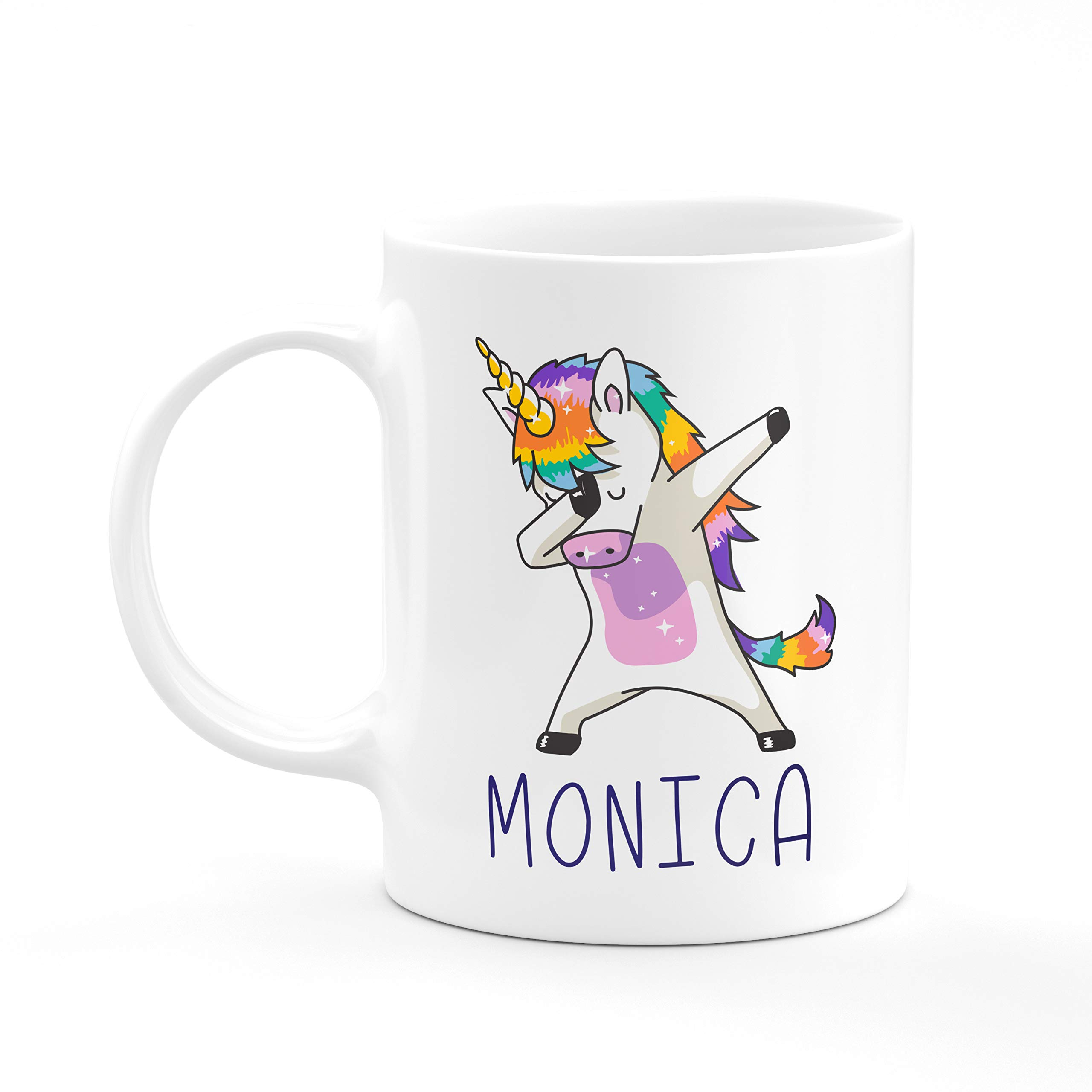 Dabbing Unicorn PRIDE Personalized Coffee Mugs with Name FREE CUSTOMIZATION-Wedding Gifts, Anniversary Gifts, Party Favors - 3 Different Designs - D1