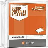 "HOSPITOLOGY PRODUCTS Zippered Mattress Encasement - Sleep Defense System - Twin XL - Waterproof - Stretchable - Standard 12"""
