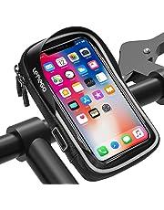 LEMEGO Bolsa Bicicleta Manillar para Ciclista Ciclismo, Bolso de Bici Impermeables Soporte Móvil teléfono para teléfonos móviles Inferior de 6 Inches (Combine All)