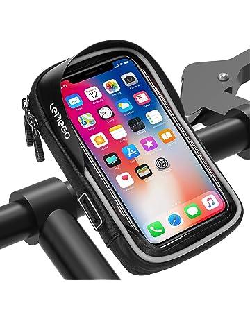028bc7db4f2 LEMEGO Bolsa Bicicleta Manillar para Ciclista Ciclismo, Bolso de Bici  Impermeables Soporte Móvil teléfono para