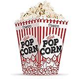 Savisto Red & White Retro Cinema Style Popcorn Party Boxes - Pack of 12