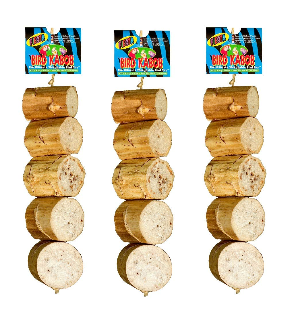 BIRD KABOB Wesco Pet Bird Toy Fiesta (11'' Long x 2.25'' Wide) - Pack of 3 by BIRD KABOB
