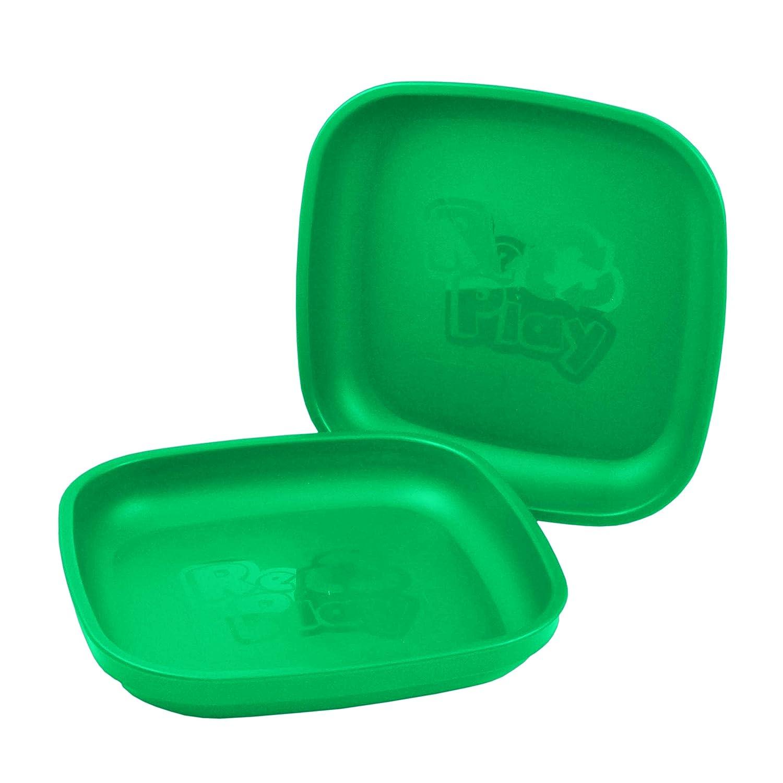 Juego de platos infantiles Re-Play 3 unidades, sin BPA, duraderos gracias al material reciclado color verde