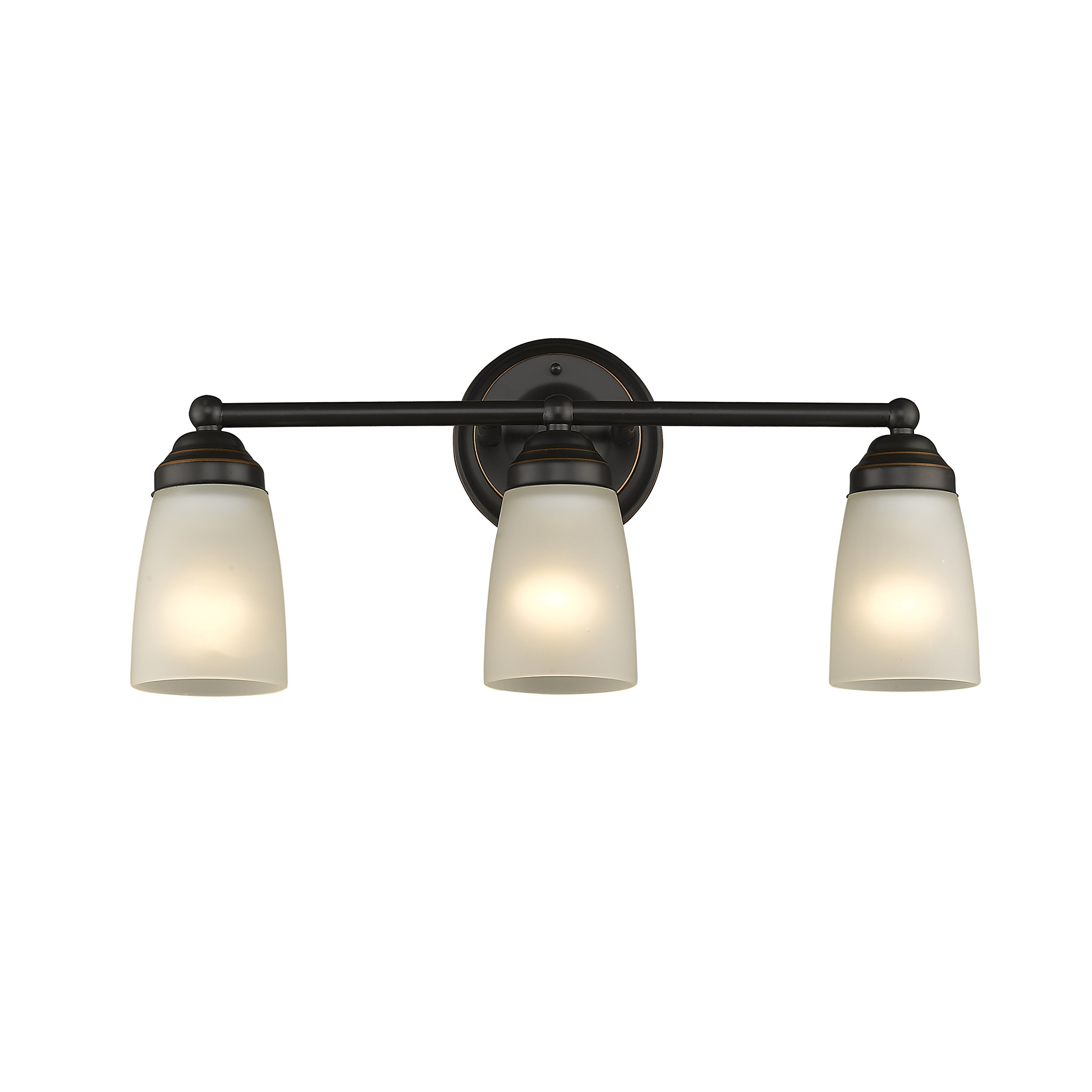 Chloe Lighting CH2Z051BZ21-BL3 21.5'' Wide Hemsworth Transitional 3 Bronze Bath Vanity Wall Fixture White Frosted Glass