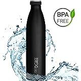720°DGREE Edelstahl Trinkflasche milkyBottle – 350, 500, 750ml, 1l | Premium Isolierflasche Kohlensäure geeignet
