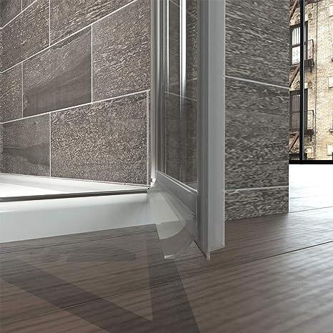 Puerta de ducha Mampara nichos Puerta colgante Puerta ducha pared puerta oscilante con Nano revestimiento: Amazon.es: Bricolaje y herramientas