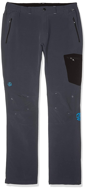 TALLA XL. Ternua ® Ridger M Pantalones, Hombre, Negro (Whales Grey), XL