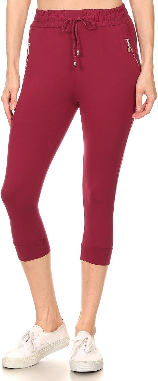 LA12ST Womens Juniors Soft Jogger Pants Drawstring Pockets