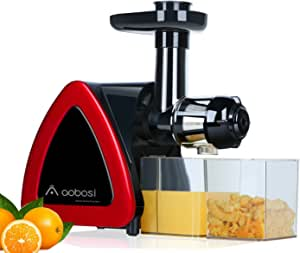AOBOSI, extractor de zumo (rotación lenta, prensa de zumo que gira ...