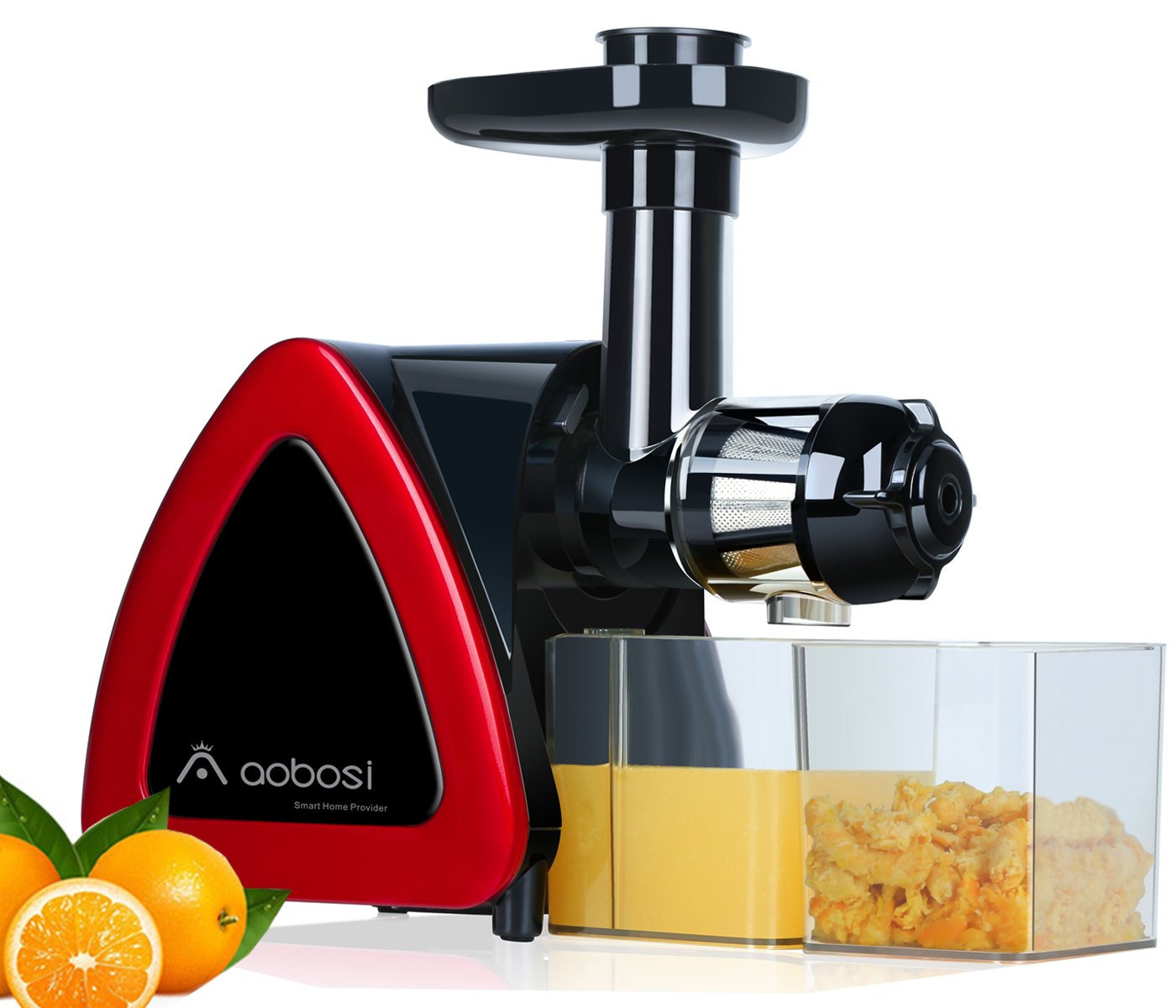 Aobosi Electric Slow Masticating Juicer Extractor,Slow Juicer For High Nutrient Value,Fresh Fruit and Vegetable Juice with Juice Jug and Cleaning Brush,Certified by ETL.