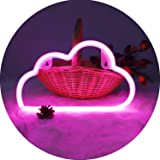 Hopolon Pink Cloud Neon Signs, LED Neon Light for Party Supplies, Girls Room Decoration Accessory, Table Decoration…