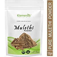 Elemensis Naturals Pure & Natural Mulethi Powder For Skin Whitening, Licorice Powder For Body, Skin and Hair - 100gm