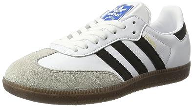 adidas Mens Samba OG, Footwear White/CORE Black/Clear Granite, ...