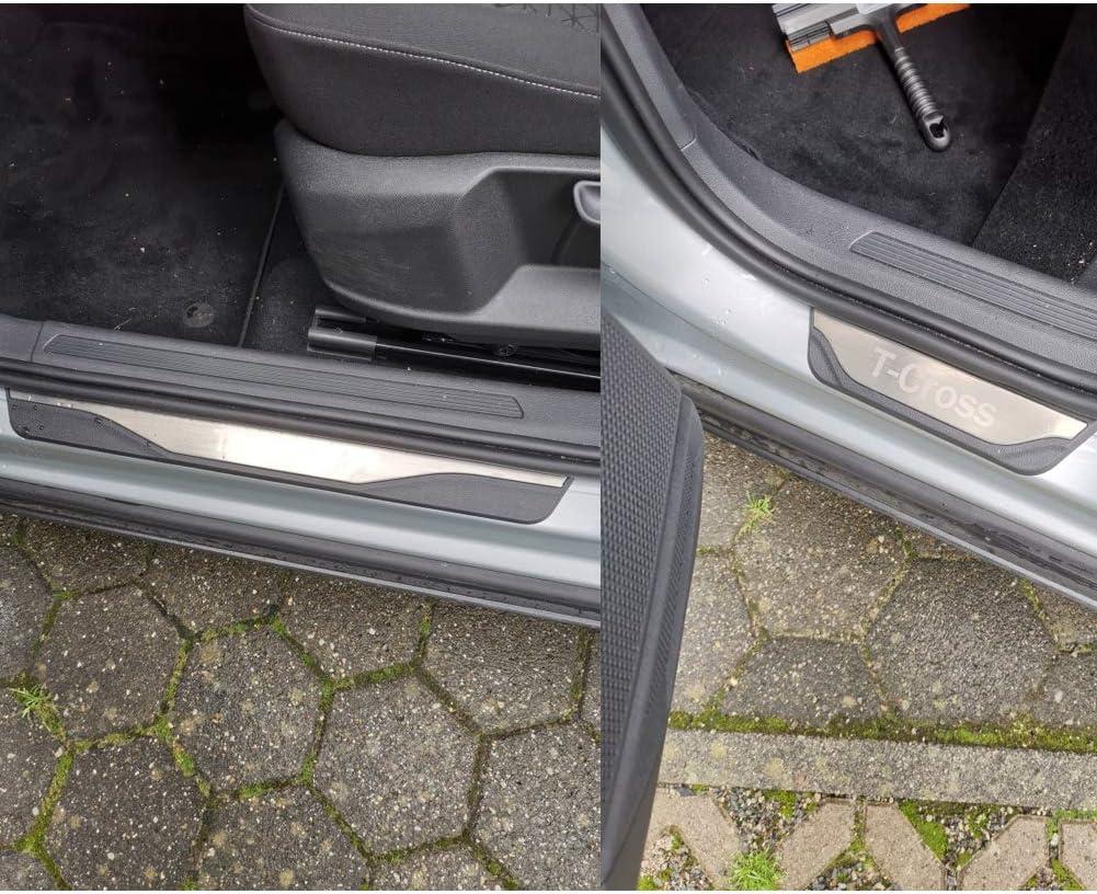 LFOTPP Stainless Steel Door Sill Cover for T-Cross Door Sill Set of 4