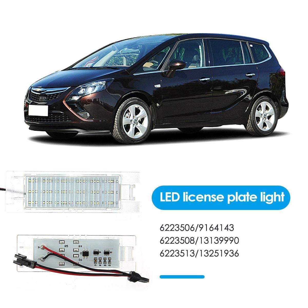 License Plate Lamp For Opel Zafira Astra H Corsa D Insignia Corsa DokFin 2 PCS LED Car License Plate Lights C Meriva-A Tigra-B Vectra-C Astra-J