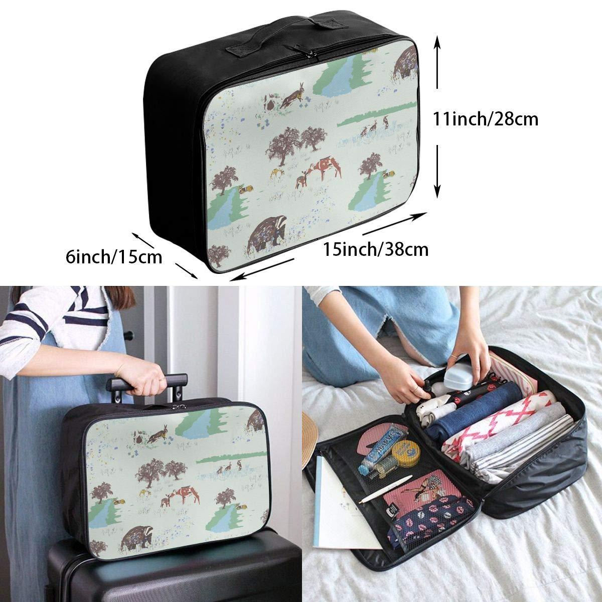 Travel Luggage Duffle Bag Lightweight Portable Handbag Animal Print Large Capacity Waterproof Foldable Storage Tote