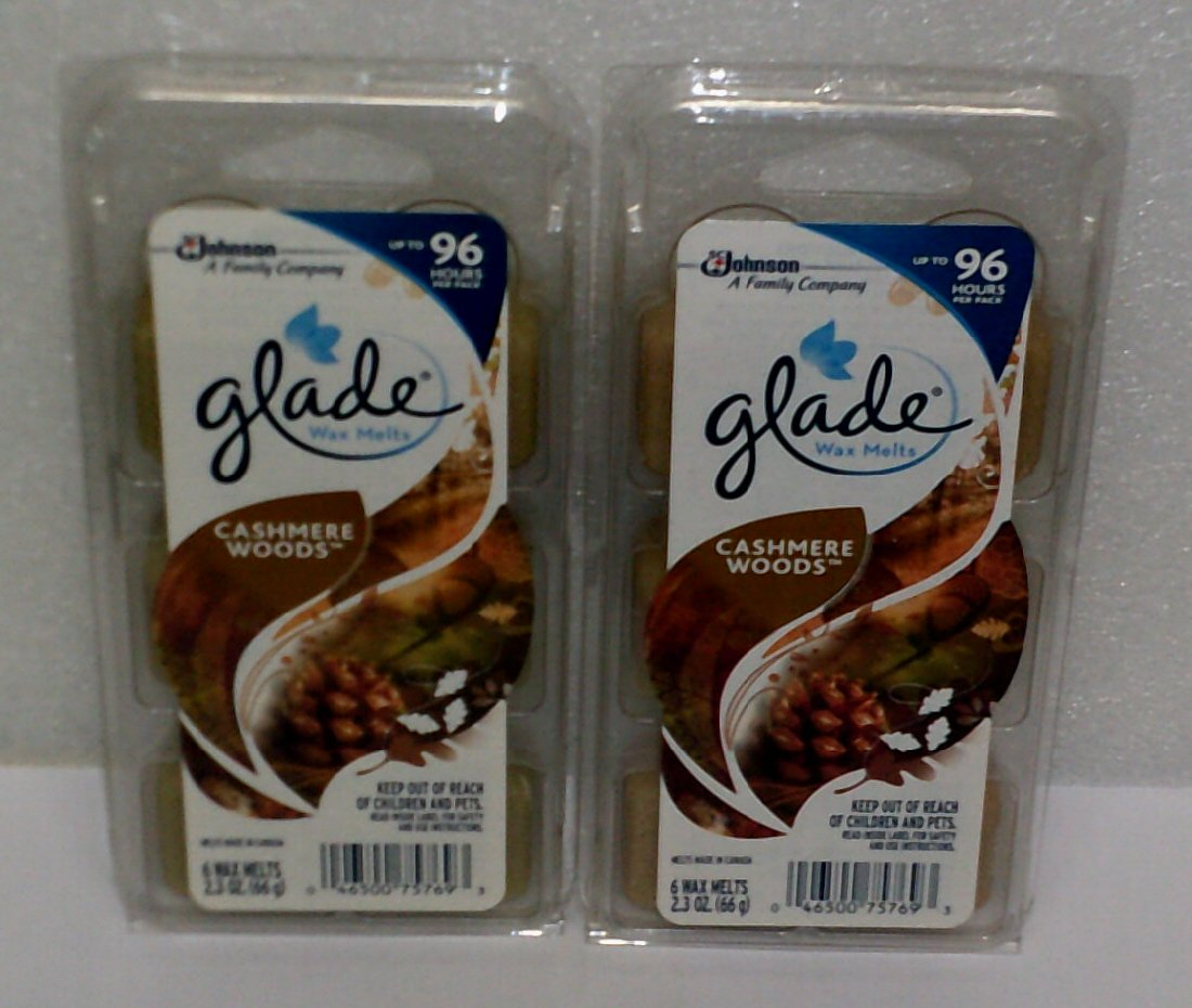 (2 Pack) Glade Limited Edition - Cashmere Woods - Wax Melts, 6 each SC Johnson
