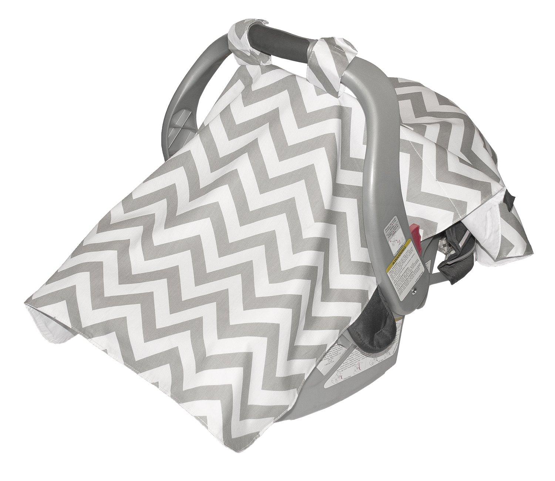 Jolly Jumper Infant Car Seat Veil, Grey/White 309-14