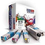 Pack 4 OKI C301 / C321 (BK/C/M/Y) - Supérieure Qualité Toner pour OKI C301DN C321DN MC332DN MC342DN MC342DNW