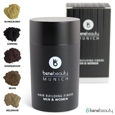 #benebeauty® Hair Building Fibers - densificación capilar - pelo en polvo - pelo espolvoreado - fibras capilares - 25 g; color: marrón claro
