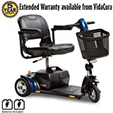 Pride Go-Go LX CTS Suspension 3-Wheel Scooter 18AH Battery w/ Avail Ext Warr