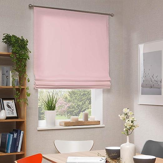 Neutex - Estor opaco (120 x 140 cm), color rosa: Amazon.es: Hogar