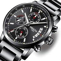 NIBOSI Herrenuhren Chronograph Quartz Uhren Armbanduhr für Herren