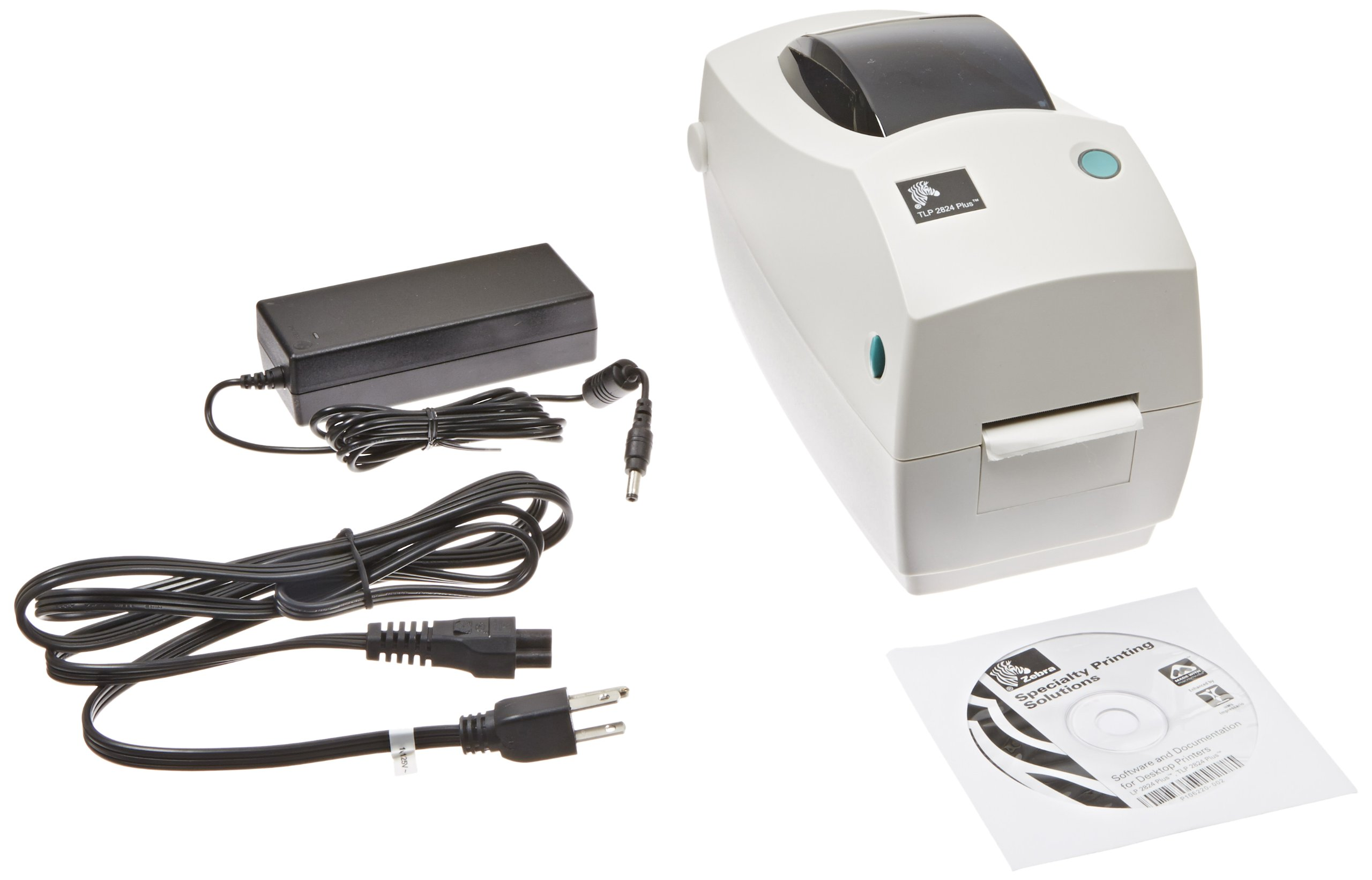 Zebra TLP 2824 Plus Monochrome Desktop Thermal Printer with Serial and USB Ports, 4 in/s Print Speed, 203 dpi Print Resolution, 2.20'' Print Width, 100-240V AC by Zebra